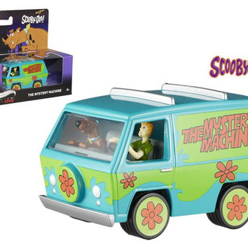 Scooby Doo Mystery Machine With Mini Figures Elite 1-50 Diecast Model by Hotwheels