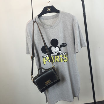 PARIS Graphic and Cartoon Character Printed T-Shirt