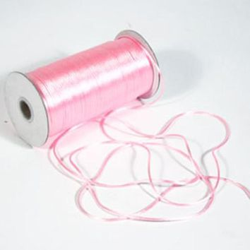 Satin Rat Tail Cord Chinese Knot, 2mm, 200-yard, Pink