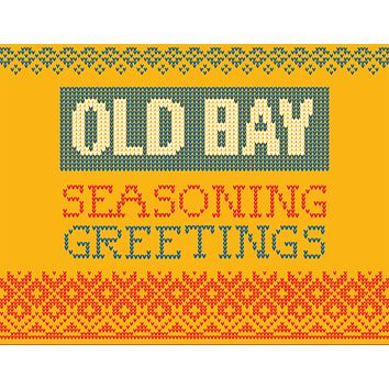 Seasoning Greetings (Gold) / Christmas Card