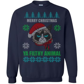 Christmas Ugly Sweater Grumpy Cat Funny Hoodies sweaters