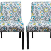 Flora Side Chairs, Pair