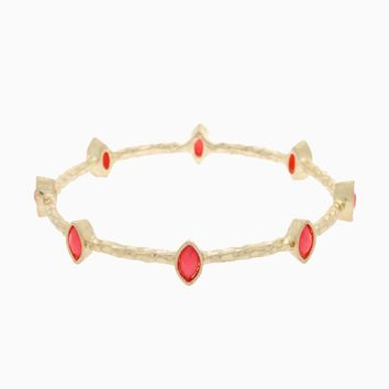 Pink Gold Stone Accent Bangle