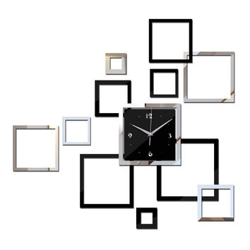 2016 wall clock DIY clocks horloge reloj de pared watch Modern acrylic mirror Sticker Living Room Quartz Needle