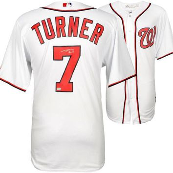 DCCKJNG Trea Turner Signed Autographed Washington Nationals Baseball Jersey (MLB Authenticated)