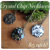 Crystal Chip Necklace - Peacock Ore