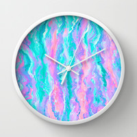Aqua Melt Wall Clock by Lisa Argyropoulos