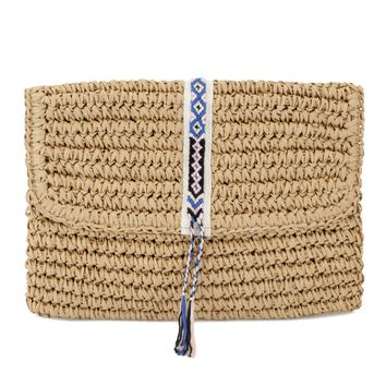Fallon + Royce - Mini Straw Bag