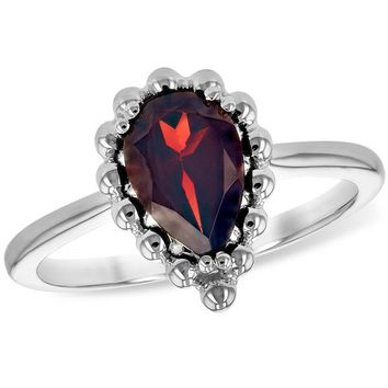 "Ben Garelick Pear Cut Garnet ""Bubble"" Ring"