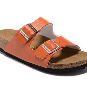 Men's and Women's BIRKENSTOCK sandals Arizona Soft Footbed Leather 632632288-014