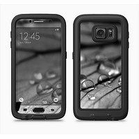 The Grayscale Watered Leaf Full Body Samsung Galaxy S6 LifeProof Fre Case Skin Kit