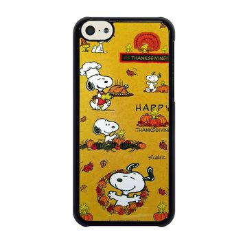 SNOOPY THE PEANUTS THANKSGIVING iPhone 5C Case