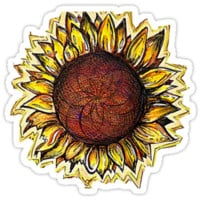 HELIANTHUS - Bumper Sticker - 3x4 - Alex Ang