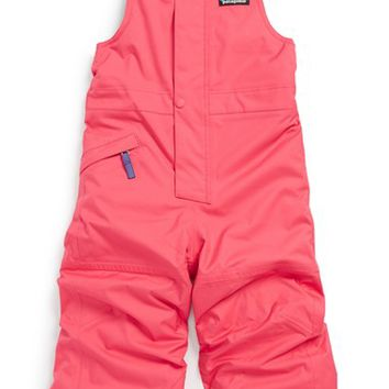 Toddler Girl's Patagonia 'Snow Pile' Waterproof Insulated Bib Overalls,
