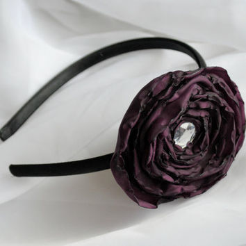 Purple Flower Headband by SRoskilly on Etsy