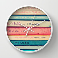 Childhood memories Wall Clock by Sandra Arduini