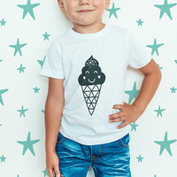 Youth Fine Jersey Tee / Kids Tshirt / Toddler Tee / Ice Cream