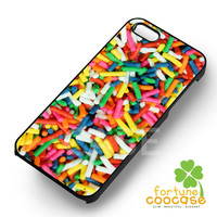 Food Phone Case Rainbow Candy Sprinkles -end for iPhone 6S case, iPhone 5s case, iPhone 6 case, iPhone 4S, Samsung S6 Edge