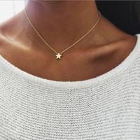Fashion thick star pendant clavicle sweater necklace