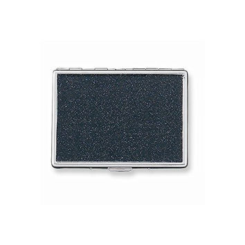 Black Glitter (Holds 9-100mm) Cigarette/Card Case with Mirror