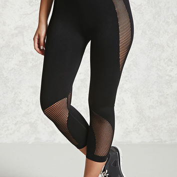 Active Open-Mesh Capri Leggings