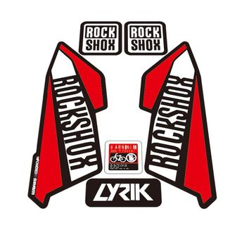 ROCK SHOX LYRIK stickers Mountain Bike Bicycle front Fork Decals For MTB DH Race Dirt Stickers free shipping