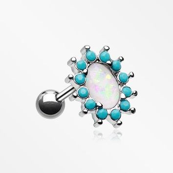 Elegant Opal Turquoise Cartilage Tragus Earring