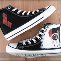Harley Quinn Custom Converse / Painted Shoes
