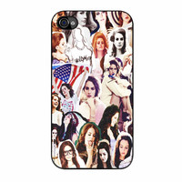 Lana Del Rey Photo Collage Cover iPhone 4s Case