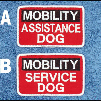 Mobility Service Dog Size 2.5x4 inch Danny & LuAnns Embroidery