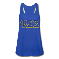 Phi Sigma Sigma Women's Flowy Tank Top by Bella