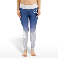 Indianapolis Colts Womens Gradient Print Leggings