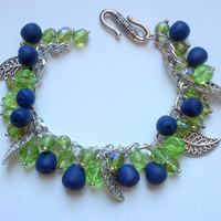 Blueberry bracelet - Autumn jewellery - Handmade bracelet