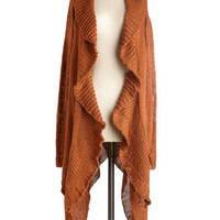ModCloth Boho Long Long Sleeve Ember When? Cardigan