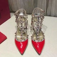 Valentino Women Fashion Simple Casual High Heeled Shoes
