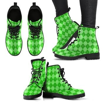 St Patricks Day Womens Leather Boots