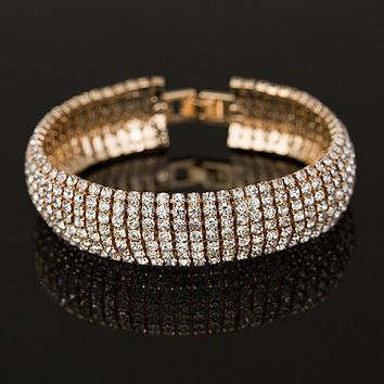 YF Jewe Diamond plated Bracelet