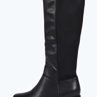 Eden Cleated Stretch Back Knee High Boot