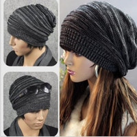 Fashion Unisex Women Men Knit Winter Warm Ski Baggy Slouch Beanie Oversized Hat Cap = 1958036932