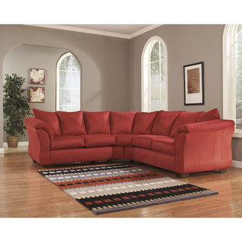 Darcy Sectional in Salsa Fabric