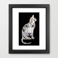 Big and small cat. Framed Art Print by catspaws | Society6