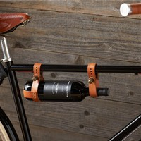 Bicycle Leather Wine Holder