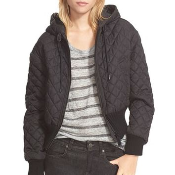 Women's Burberry Brit 'Maidfield' Hooded Quilted Jacket,