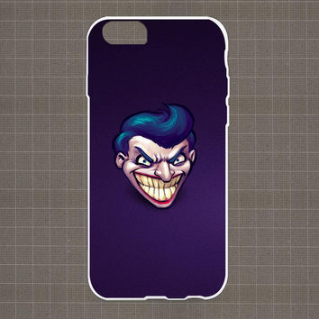 Joker Smiling Intelligent Mad Minimalism Head Purple iPhone 4/4S, 5/5S, 5C Series Hard Plastic Case