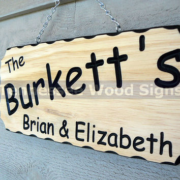 Personalized Family Last and First Names Signs - This is a Names Sign. Great for Cabins-Camping-Last Name-Gift-RV-Weddings-Anniversaries