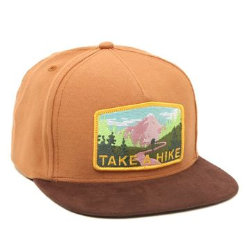 Skate Mental Take A Hike Snapback Hat - Mens Backpack - Brown - One