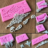 Lace Pattern Silicone Cake Mold Forms Cake Mold Retro Rome Relief Decorative Chocolate Flower Baking Pastry Kitchen Tools