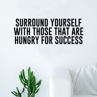 Hungry for Success Quote Wall Decal Sticker Room Bedroom Art Vinyl Inspirational Decor Motivational Inspirational Gym Fitness