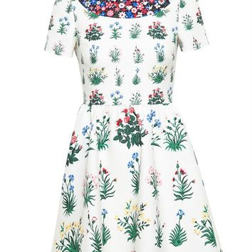 VALENTINO | Floral Printed Dress | brownsfashion.com | The Finest Edit of Luxury Fashion | Clothes, Shoes, Bags and Accessories for Men & Women