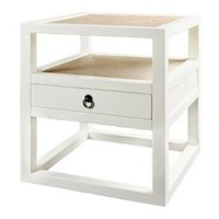 Polo Lacquered Side Table Bungalow 5 LIving Room Tables Modern Decor White Black Storage Rattan